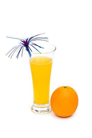 Orange cocktail isolated on the white background photo