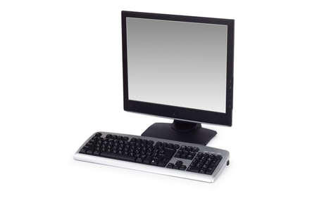 Computer with flat screen isolated on white Stock Photo - 3218478