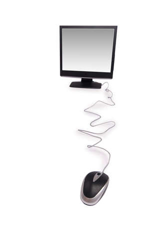 Personal computer isolated on the white background Stock Photo - 3218473