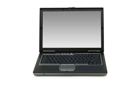 Silver laptop isolated on the white background Stock Photo - 3247481