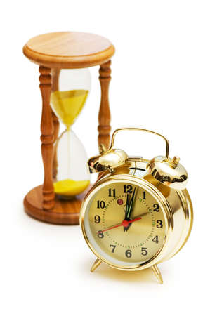 timescale: Time concept with clock and hour glass