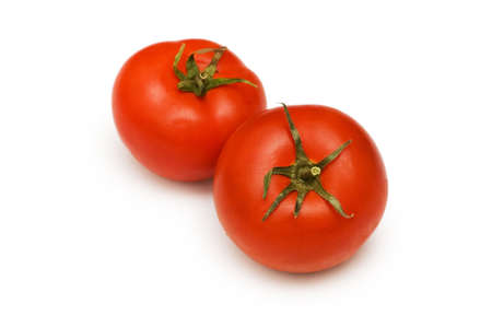 Red tomatoes isolated on the white background Stock Photo - 3273790
