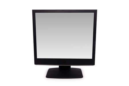 Black lcd monitor isolated on the white Stock Photo - 3316467