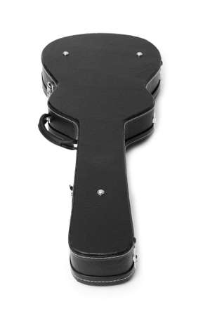 guitar case: Black guitar case isolated on the white