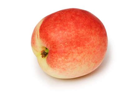 Red nectarine isolated on the white background photo