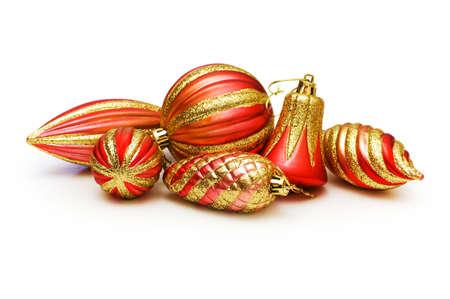Christmas decoration isolated on the white background photo
