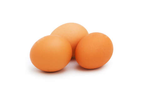 Group of eggs isolated on the white Stock Photo - 3368858