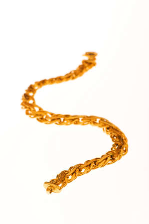 Golden chain isolated  on the white background Stock Photo - 3473460