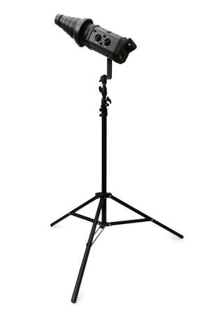 Studio strobe isolated on the white background photo