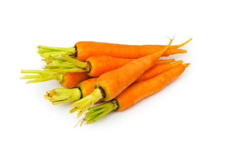Fresh carrots isolated on the white background Stock Photo