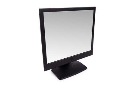 Black lcd monitor isolated on the white Stock Photo - 3473401