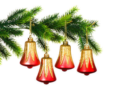 Christmas decoration on the tree isolated on white Stock Photo - 3533259