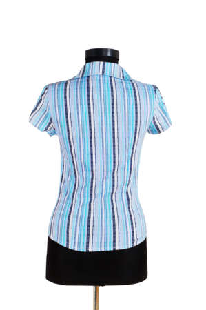 Striped shirt isolated on the white background photo