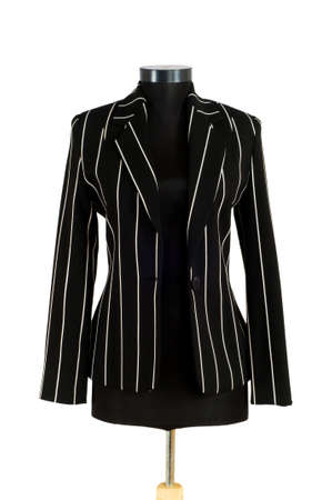 Striped jacket isolated on the white background Stock Photo - 3589673