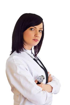 Female doctor isolated on the white background photo