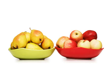 Various frutis isolated on the white background photo