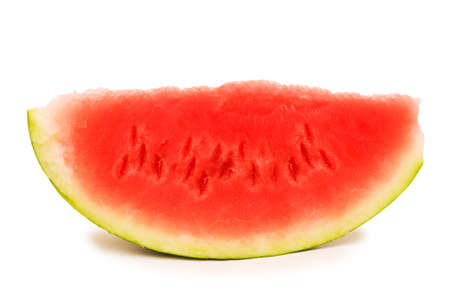 Watermelon slice isolated on the white background photo