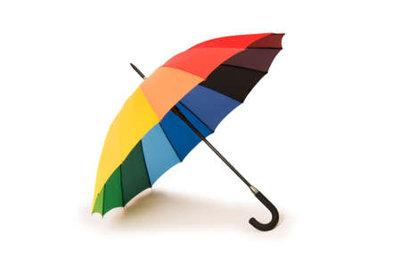 Colourful umbrella isolated on the white background Stock Photo - 3651522