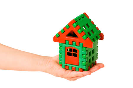 House in hand isolated on the white Stock Photo - 3692202