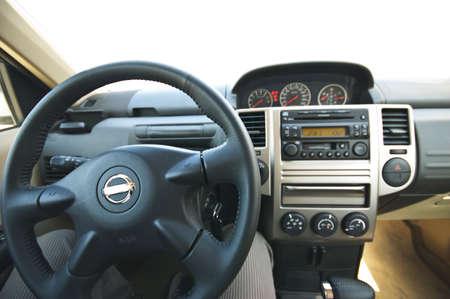 rudder: Interni di una vettura moderna al sedile di guida Archivio Fotografico
