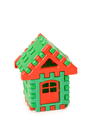 Small toy house isolated on the white Stock Photo - 3793318