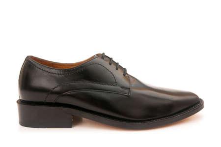 Black shoes isolated on the white background photo