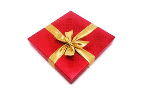 Gift box isolated on the white background Stock Photo - 3874434