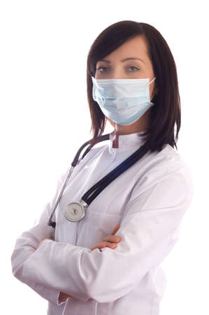 Female doctor isolated on the white background Stock Photo - 3934964