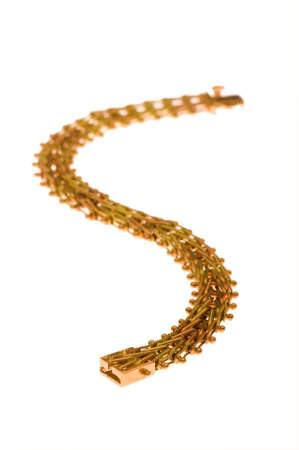 Golden chain isolated  on the white background Stock Photo - 3965372