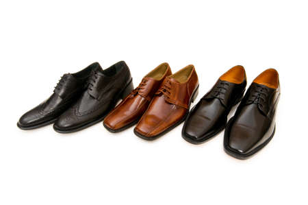 Selection of male shoes isolated on white Stock Photo - 3965489