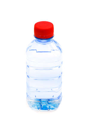 Bottle of water isolated on the white photo