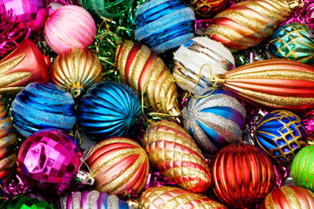 Colourful christmas decoration on a shiny background Stock Photo - 3993282