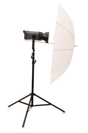 snoot: Studio strobe isolated on the white background Stock Photo