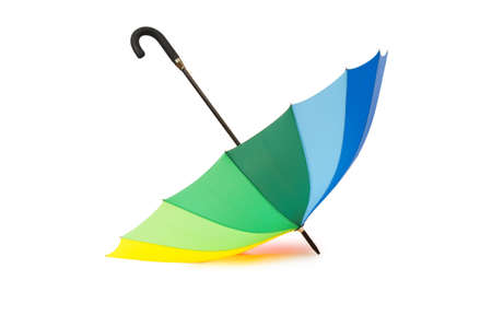 Colourful umbrella isolated on the white background photo