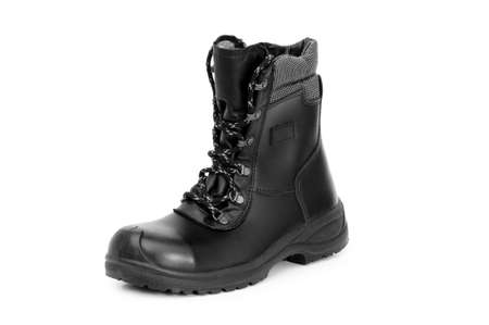 Heavy duty boots isolated on the white background Stock Photo - 4159208
