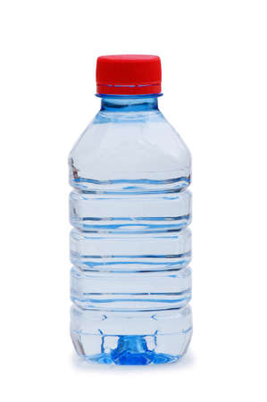 quench: Bottle of water isolated on the white