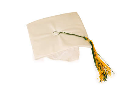 Graduation cap isolated on the white background Stock Photo - 4198171