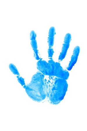 empreinte de main: Imprimer isol� de la main sur le blanc