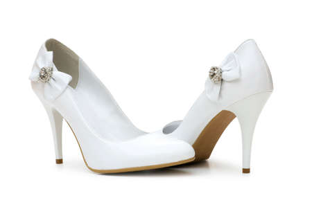 footgear: Woman shoes isolated on the white background Stock Photo