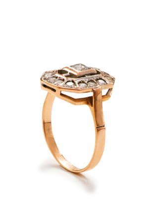 Precious ring isolated on the white background photo