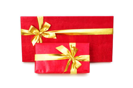 Gift boxes isolated on the white background Stock Photo - 4655400
