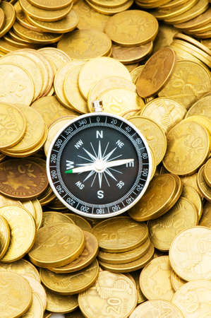 monies: Financial concept - navigating in difficult times for markets Stock Photo