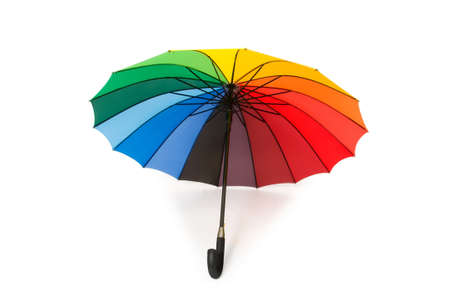 Colourful umbrella isolated on the white background photo