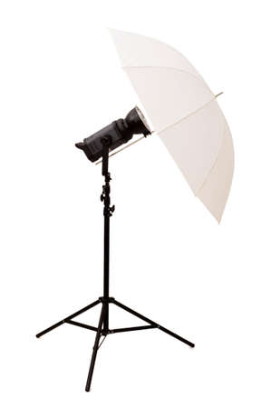 Studio umbrella isolated on the white background photo