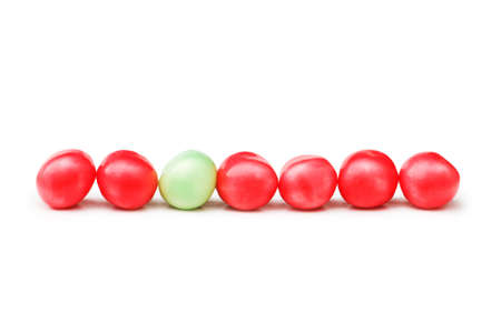 jellybean: Stand out from crowd concept with jelly beans