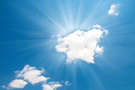 Bright blue sky and sun Stock Photo - 5007258