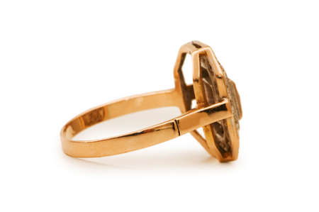 Golden ring isolated on the white background Stock Photo - 5007146