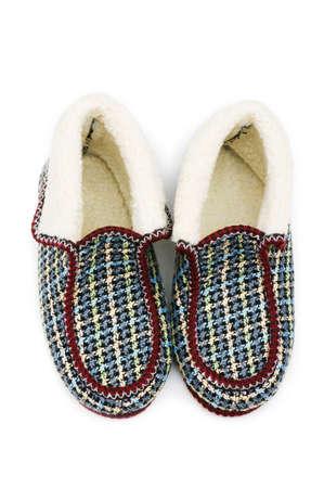 valenki: Warm slippers isolated on the white background
