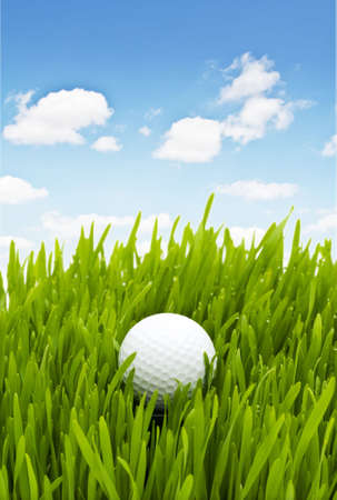 Golf ball on the green grass Stock Photo - 5212751