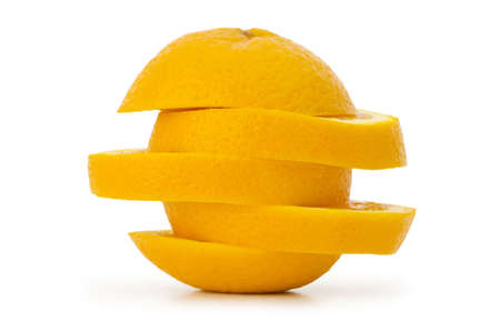 Sliced orange isolated on the white photo